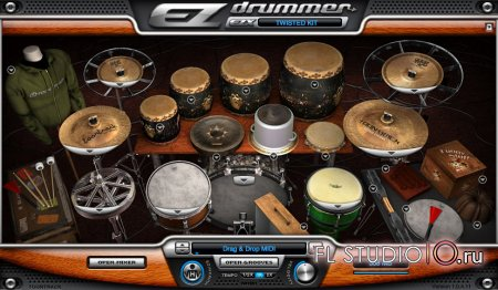 EZDrummer Twisted Kit