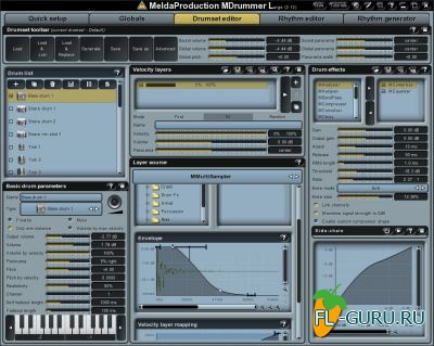 MeldaProduction - MDrummer Large 5.00 STANDALONE, VSTi, VSTi3, AU WiN.OSX x86 x64 [05.2014]