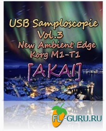 USB Samploscopie vol.3 - New Ambient Edge - Korg M1-T1 - библиотека сэмплов(Akai)
