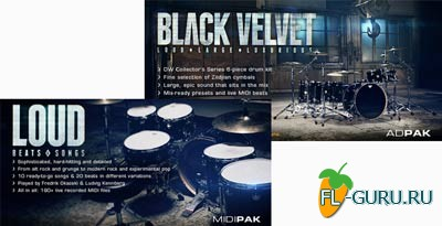 XLN Audio Black Velvet ADpak and Loud Beats and Songs MIDI Pak