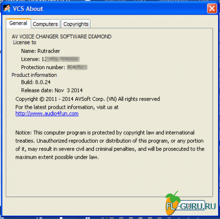 Audio4Fun - AV Voice Changer Software Diamond 8.0.24 x86 [2014, ENG]