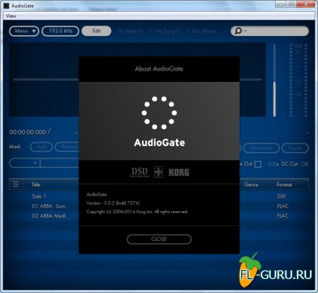 [SACD][DSD] KORG Audio - Gate 3.0.2 Build 7274 Portable [2014]