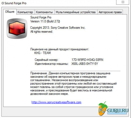 Sony - Sound Forge Pro 11.0 Build 272 x86 [2013, ENG, RUS] REPACK, PORTABLE