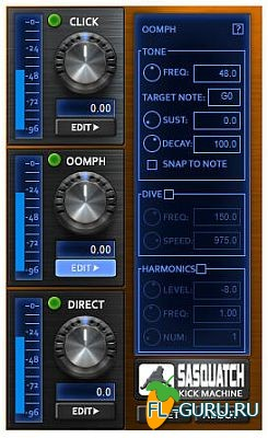 Boz Digital Labs - Sasquatch Kick Machine 1.1.4 VST, RTAS, AU WIN.OSX x86 x64 [2014]