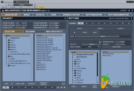 MeldaProduction - MDrummer Large 5.02 Update STANDALONE, VSTi, VSTi3, AU WIN.OSX x86 x64 [10.2014]