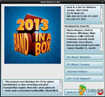 PG Music - Band-in-a-Box 2013 Build 364 x86 [2012, ENG]