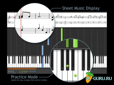 Synthesia 9.0.2495 - Crack + 1301 midi 10 2 x86 x64 [2015, MULTILANG +RUS]