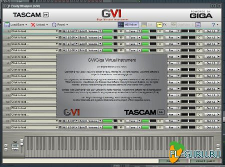 TASCAM GVI Giga Virtual Instrument VST Plug-in