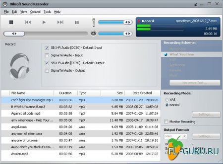Xilisoft Sound Recorder 1.0.49 build 1225