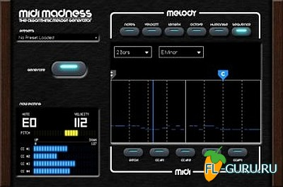 Midi Madness Software - Midi Madness 2.1.4 VST, AU WIN.OSX x86 x64 [10.2015]