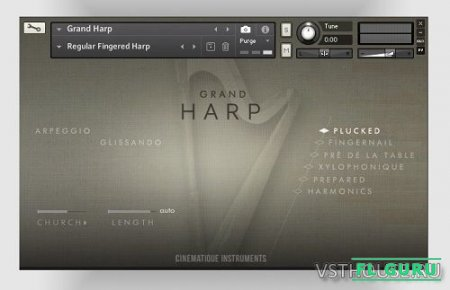 Cinematique-Instruments - Grand Harp (KONTAKT) - сэмплы арфы kontakt