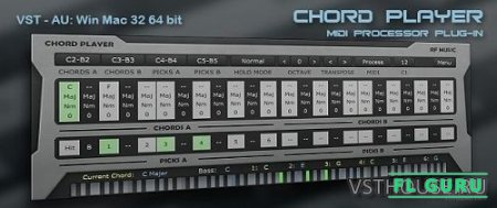 RF Music - Chord Player 1.0.0.1 VST, VST3, AU WIN.OSX x86 x64 - генератор аккордов