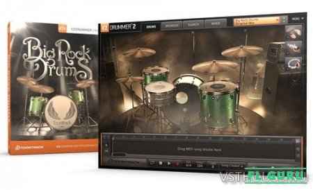 Toontrack - Big Rock Drums EZX (Win, MacOS) - сэмплы EZDrummer