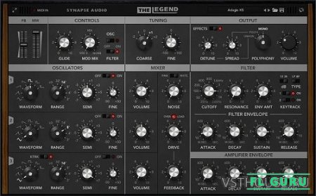 Synapse Audio Software - The Legend 1.1.0 VSTi x86 x64 - аналоговый синтезатор