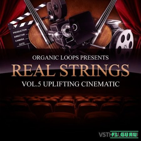 Organic Loops - Real Strings Vol.5 Uplifting Cinematic (WAV, MIDI, Sibelius) - сэмплы струнных