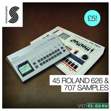 Samplephonics - 45 ROLAND 626 AND 707 SAMPLES (WAV) - сэмплы ударных