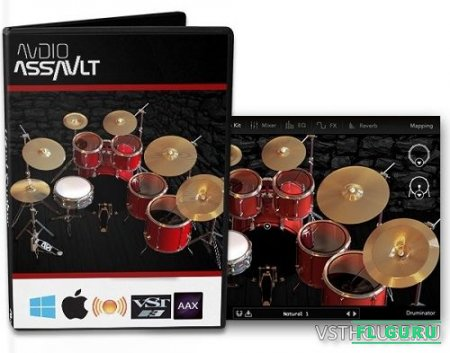Audio Assault - Druminator 1.0 VST, VST3, RTAS, AAX, AU WIN.OSX x86 x64 - ударная установка