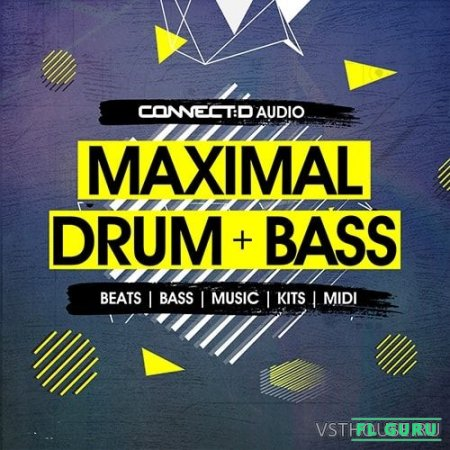 CONNECTD Audio - Maximal Drum & Bass (MIDI, WAV, ABLETON, EXS24, HALION, KONTAKT, NN-XT, SERUM, MASSIVE, FM8) - сэмплы drum and bass