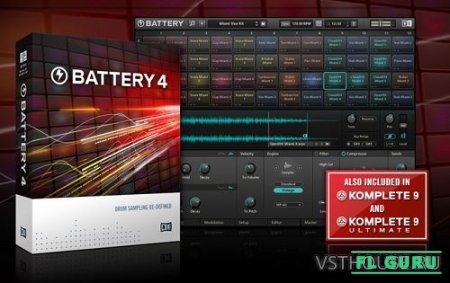 Native Instruments - Battery 4.1.6, VSTi AAX EXE x86 x64 (NO INSTALL, SymLink Installer) - драм-сэмплер