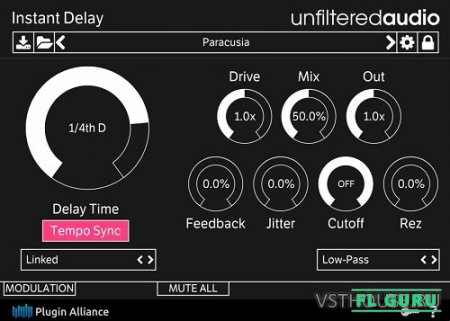 Unfiltered Audio - Instant Delay 1.0 VST, VST3, AAX x86 x64 - дилэй