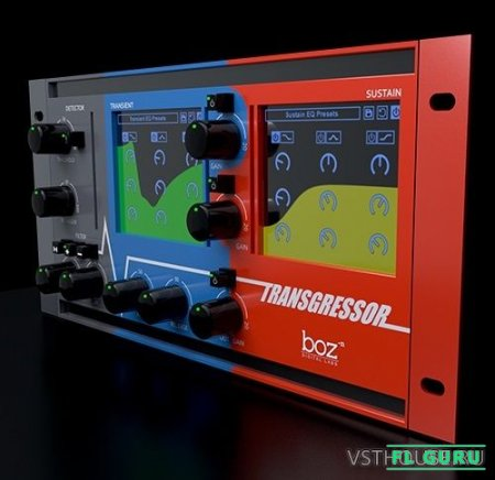 Boz Digital Labs - Transgressor 1.0.6 VST, VST3, AAX x86 x64 - транзиент шейпер