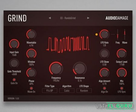 Audio Damage - AD035 Grind 1.0.0 VST, VST3, AAX, AU WIN.OSX x86 x64 - сатуратор