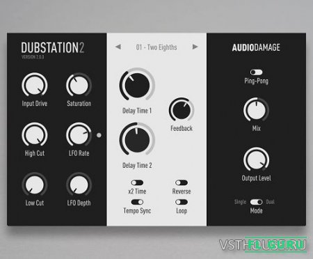 Audio Damage - AD036 Dubstation 2.0.1 WIN, 2.0.1a OSX VST, VST3, AAX, AU x86 x64 - дилэй