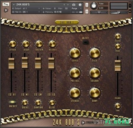 Global Audio Tools - 24K 808s (KONTAKT) - сэмплы ударных Kontakt