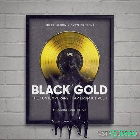 Julez Jadon - Black Gold The Contemporary Trap Drum Kit Vol.1 (WAV) - сэмплы ударных