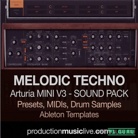Production Music Live - Arturia Mini V3 Sound Pack - Melodic Techno (MINI V, WAV, MIDI, ABLETON) - пресеты для Arturia MINI V